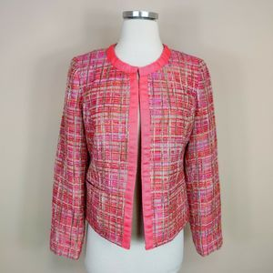 Chicos Pink Tweed Jacket